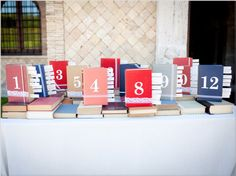 DIY Idea for wedding - Amazing tableau de marriage, realized with thrift store book!