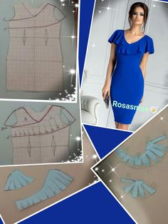 Add flounce to a basic dress pattern - Source by ntejmurazoevna Dresses Peplum Outfit, Dress Sewing Patterns, Blouse Patterns, Clothing Patterns, Sewing Blouses, Tailored Shirts, Fashion Sewing, Dressmaking, Pattern Fashion