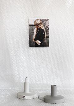 catherine lovatts ceramic candle holders. photo/styling jennifer levau.