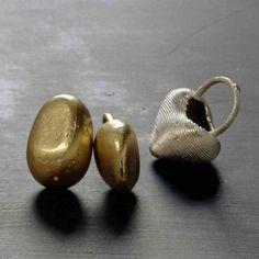 Johanna Dahm, Ashanti-rings, gold, silver