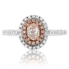 Natural 0.60 Carat Fancy Light Pink Diamond Ring by DiamondEnvycom, $4795.00