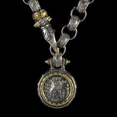 Collar de gancho romano Scroll grabado por BowmanOriginals en Etsy