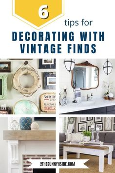 Do you love vintage finds, or home decor, but aren't sure how to use it in your home? Decorating with Vintage finds adds character to any space. Not only is it visually interesting to the eye, but also can be a conversation piece. Find tips for styling vintage decor as well as how to get started collecting and what to look for.