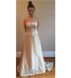 Amanda Wyatt - Size: 12 - Light gold strapless wedding dress | Oxfam GB | Oxfam's Online Shop