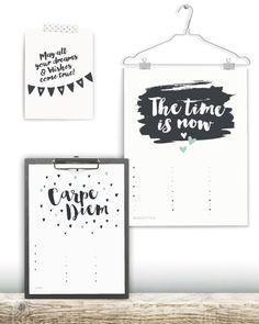 Verjaardagskalender Quotes - Verjaardagskalender maken! - zwart-wit of met kleur. A3 en A4 formaat - Bij printcandy kun je zelf online kleuren customizen