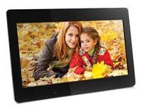 4GB Memory/ True Digital LCD Panels For Clearer Pictures/ Slideshow Support/ Multimedia Experience/ Includes Built-In Clock, Calendar, And Auto On,Off Timer/ Wall Mountable/ Black Finish