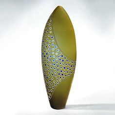 Matthew Curtis - Green Scalloped | Pismo Fine Art Glass
