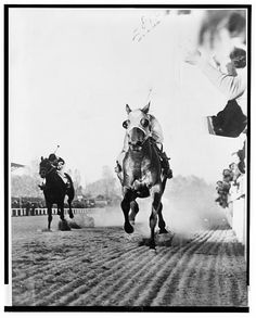 Seabiscuit vs. War Admiral Match Race at Pimlico Novemer 1, 1938 - best race story ever.