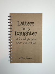 Letters to my Daughter, Baby Keepsake Gift, To My Daughter, Journal, Notebook, Tradition, Gift from Mother, As you grow, Diary, Baby Girl
