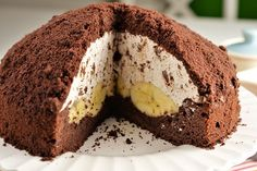 """Cake """"Mink Mole"""" - According to my mother's prescription! For banana lovers, very tasty, easy to prepare. Ingredients: dough: cups of flour Vegan Recipes, Cooking Recipes, Homemade Pastries, Different Cakes, Cake Ingredients, Chocolate Cookies, Cake Cookies, Food To Make, Food And Drink"""