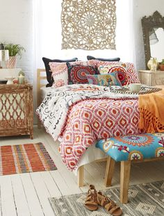 If you love touches of Moroccan accents, juicy colors or bold pattern, you may have boho fever. Bohemian decor is hot. Work a few well-chosen pieces into a more modern environment or pile on the layers and create a laid-back vibe that's perfect for casual living. Embrace your globe-trotter style and be self-expressive.