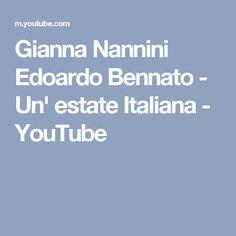 Gianna Nannini Edoardo Bennato - Un' estate Italiana - YouTube