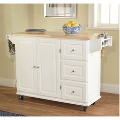 Aspen 3-drawer Spice Rack Drop Leaf Kitchen Cart | Overstock.com Shopping - The Best Deals on Kitchen Carts