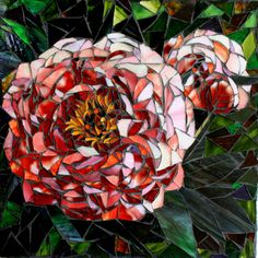 Peonies Floral Mosaic Art. Beautiful  Repined By    http://www.mosaicmosaic.com/