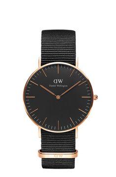 Daniel Wellington Damenuhr Classic Black Cornwall DW00100150