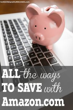 Did you know that in addition to their competitive pricing, Amazon offers many other ways for customers to save money? There are coupons (yes, coupons!), special deals for moms and students, regular sales and more.  If you already love Amazon.com, you're going to love it even more. If you haven't discovered all the ways Amazon can help you save and keep your household on budget, now is the time! All the Ways to Save with Amazon.com Living On A Budget, Family Budget, Frugal Living, Money Tips, Money Saving Tips, Saving For College, Budgeting Finances, Frugal Tips, Shopping Hacks