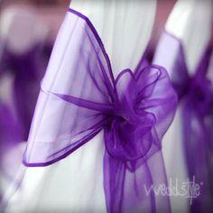 Stuhlschleifen für deine Hochzeit in allen Farben mieten: http://weddstyle.de/stuhlschleifen-mieten.html
