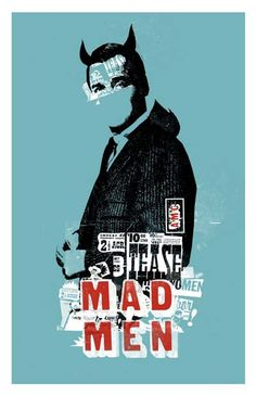 Mad Men 11x17 inch poster. $22.00, via Etsy.