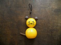 Vintage Swedish wooden toy Mouse
