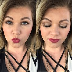 Younique Splash Liquid Lipstick: Soulful over Pompous Lip Liner Splurge Cream Shadows: Elegant & Faithful