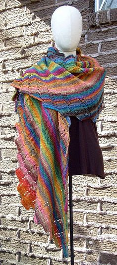 This scarf is so beautiful. Ravelry is my favorite website for knitting and crochet inspiration! Argosy Wrap 1-1 by Vyvyan N, via Flickr