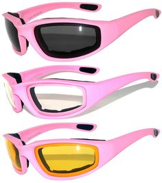 70dc315037 Womens Pink Padded Foam Motorcycle Biker Glasses Goggles UV protection      Remarkable product available now.   Best Travel accessories for women