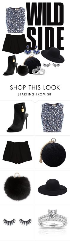 """Wild side"" by ellaa10 ❤ liked on Polyvore featuring Tom Ford, Lace & Beads, Chloé, Carvela, Yves Salomon, Annello, cute, outfit, wild and allblack"