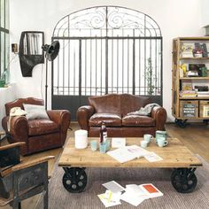 1000 images about canap en cuir on pinterest canapes - Maison du monde coussin de chaise ...