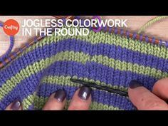 Knitter Secrets: Jogless Colorwork in the Round   Striped Knitting Tutorial with Faina Goberstein - YouTube