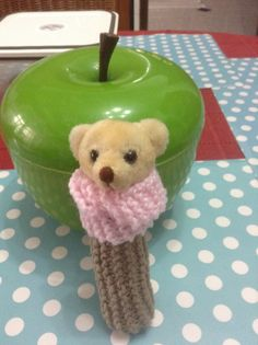 Knitted hand toy for baby