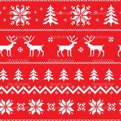 jacquard pattern christmas - Google Search