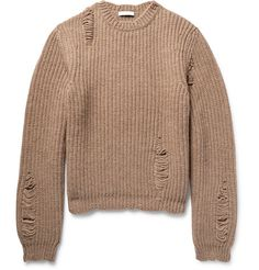 Distressed Alpaca and Wool-Blend Sweater | MR PORTER