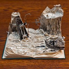 Scotland's secret book sculptures - in pictures -- From Alasdair Gray to Robert Burns, Robert Louis Stevenson and JM Barrie – Edinburgh's secret sculptor has struck again, creating five magical paper models in honour of Book Week Scotland, left in unexpected places across the country. Have a look at her handiwork.