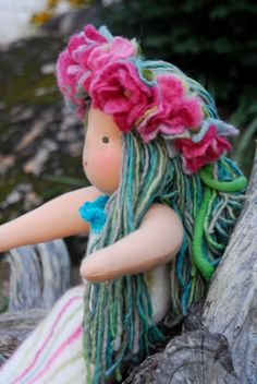 Lelani a Waldorf inspired Ringalina Doll by WoolCreations on Etsy, $290.00