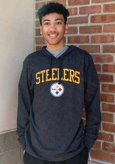 47 Pittsburgh Steelers Mens Black Power Up Club Long Sleeve Hoodie - 48005737 Pittsburgh Pirates, Pittsburgh Penguins, Pittsburgh Steelers, Steelers T Shirts, Pitt Panthers, Hooded Sweatshirts, Hoodies, Black Power, Club