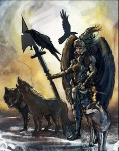Did you know that #Valkyries rode wolves,not horses? Read more: http://impressivemagazine.com/2013/07/10/the-valkyries/ #Vikings #norsemythology