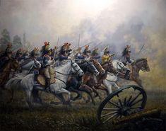 Carga de caballería del 5º regimiento de coraceros (Cuirassiers) Franceses. Ferre Clauzel.