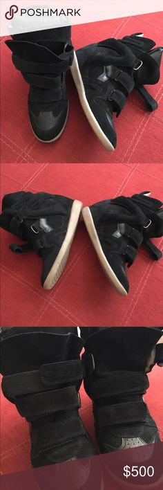 Isabel Marant Beckett Calfskin Suede Sneakers What's happening guys!   So I've decided to sell my Isabel Marant sneakers! They've only been worn about 3 times max. I purchased them from Barney's New York Department Store on 660 Madison Avenue New York. They are completely authentic. Unfortunately, I don't have the duster bags and box :/  A huge box and a Manhattan apartment don't mix 😂😅 The sneakers also look small just in case you were curious. Feel free to ask any questions!! Isabel…