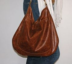 UMA Leather Tote  Adjustable Strap  Leather Hobo by margeandrudy, $254.00