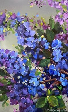 Nancy Medina Gallery of Original Fine Art Abstract Flowers, Watercolor Flowers, Garden Painting, Nature Paintings, Pretty Art, All Art, Flower Art, Fine Art, Ideas