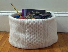 Irish Knitting Basket