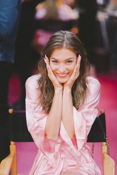 Backstage beauty at Victoria's Secret 2016 Grace Elizabeth, Victoria Secret Angels, Victoria Secret Fashion Show, Parisienne Chic, Irina Shayk, Sophia Loren, I Love Girls, Girls Dream, Sara Sampaio