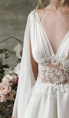Grecian wedding dress, grecian wedding gown, grecian bridal gown, bohemian wedding dress, boho weddi in 2019 Wedding Dress Silk, Greek Wedding Dresses, Grecian Wedding, Boho Wedding Dress Bohemian, Goddess Wedding Dresses, Elf Wedding Dress, Vestidos Estilo Boho, Bridal Gowns, Wedding Gowns
