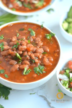Best and Easy Charro Beans | TheBellyRulesTheMind Rice Dishes, Main Dishes, Charro Beans, Cooking Dried Beans, Superfood Recipes, Delicious Dinner Recipes, Dinner Dishes, Bean Recipes, Instant Pot