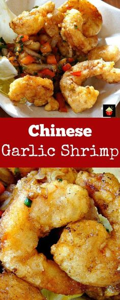 Chinese Garlic Shrimp is a wonderful quick and easy recipe with terrific flavors. - Chinese Garlic Shrimp is a wonderful quick and easy recipe with terrific flavors! Chinese Chicken Recipes, Easy Chinese Recipes, Chinese Meals, Chinese Garlic Shrimp Recipe, Chinese Crab Recipe, Vegetarian Chinese Recipes, Spicy Garlic Shrimp, Salt And Pepper Shrimp, Healthy Chinese