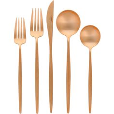 Moon Cutlery - Brushed Copper - 5 Pcs | Cutipol | HORNE