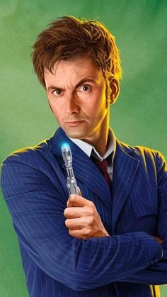 The Tenth Doctor by Jeremy Enecio Doctor Who 10, Doctor Who Quotes, Eleventh Doctor, Doctor Who Tardis, Geronimo, Science Fiction, Doctor Who Wallpaper, David Tennant Doctor Who, Rory Williams