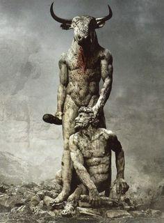 "Minotaur - CD graphics for Fleshgod Apocalypse's album ""Labyrinth"""