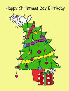 Happy Christmas Day Birthday Fun Cards Cool Birthdays