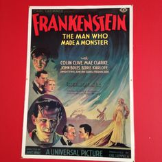 #Spotted #VintagePoster for #Frankenstein #London